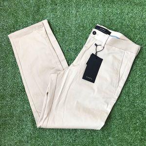 Zara khaki pants NWT cropped